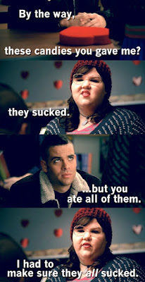 fat woman in a date