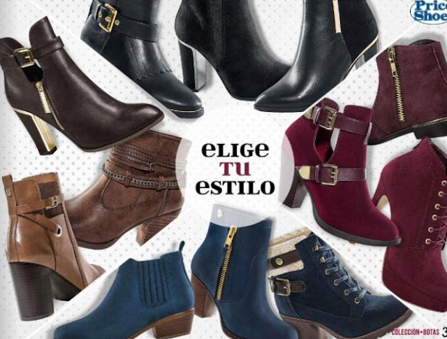 Botas Price shoes catalogos 2017 2018 online
