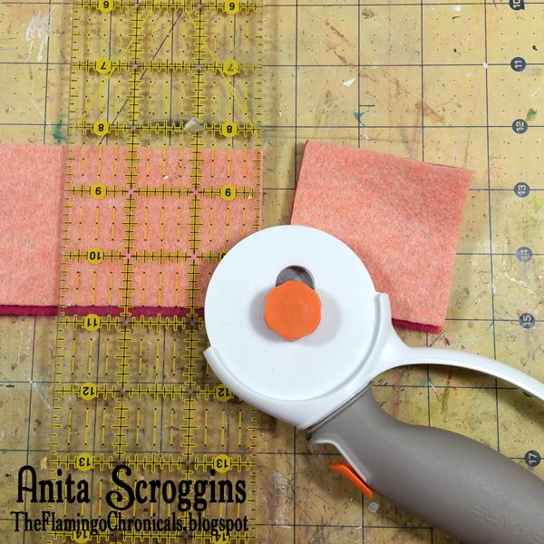 Cutting Felt squares