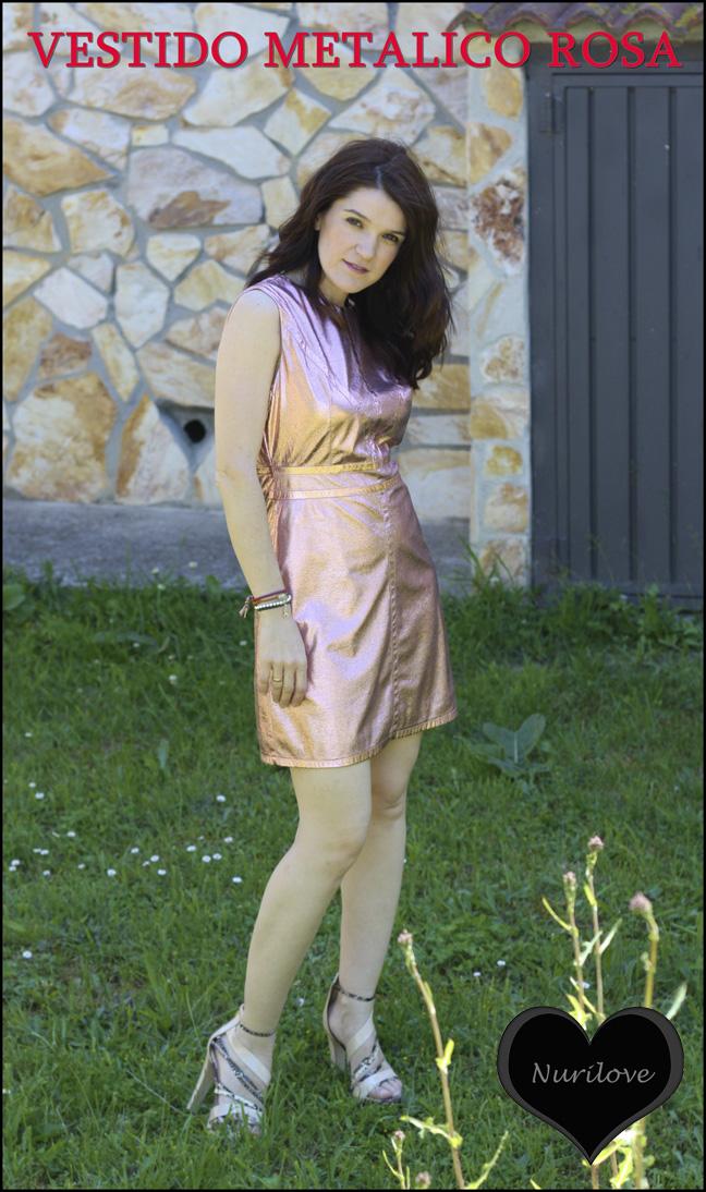 Vestido metálico rosa, un vestido muy muy especial