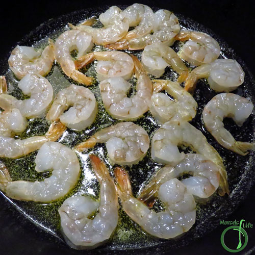 Morsels of Life - Garlic Butter Shrimp Step 3 - Cook shrimp in butter for a minute or two on each side.