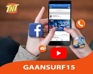 TNT GaanSurf15 – 15 Pesos Internet + FB, Mobile Legends for 2 Days