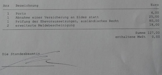 Documents required to marry in Germany