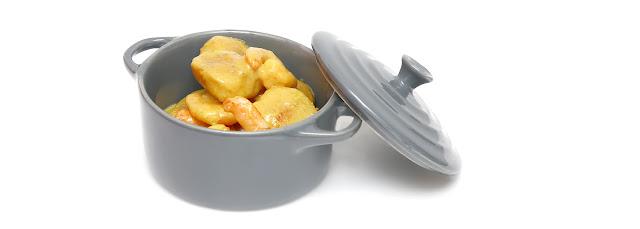 Curry de crevettes et Saint-Jacques poêlées