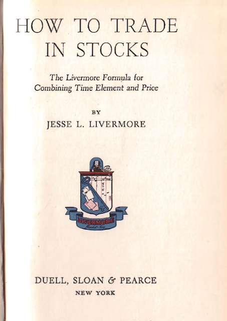 Jesse Livermore trading book How to Trade in Stocks 1940 pdf ebook