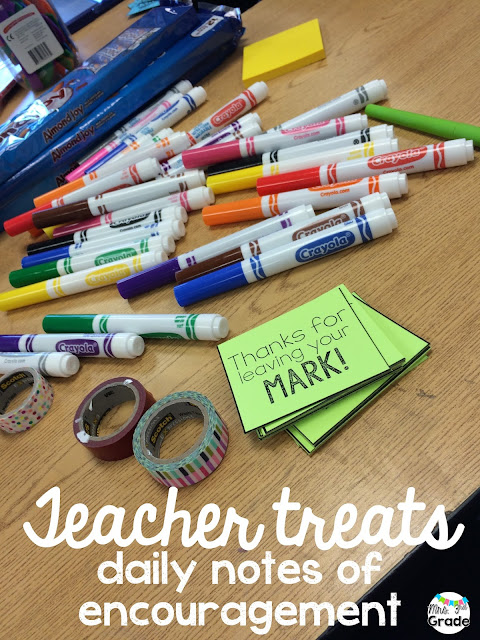 Gathering materials to make end of the year treats for your fellow teachers is a great way to remind them of the fantastic things they've done this year, as well as have fun!