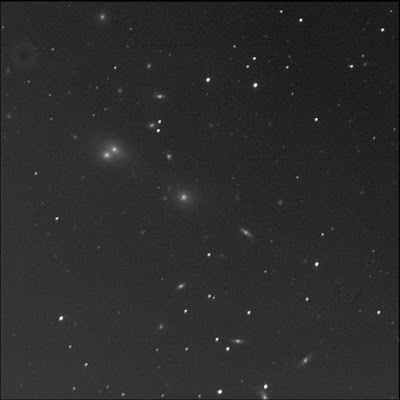 galaxy cluster centred on NGC 541 in luminance