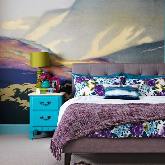 Today's Inspo.. Wall Mural in Bedroom