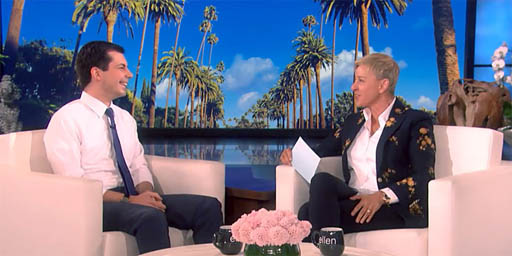 Mayor Pete Buttigieg on ELLEN (via screen capture)
