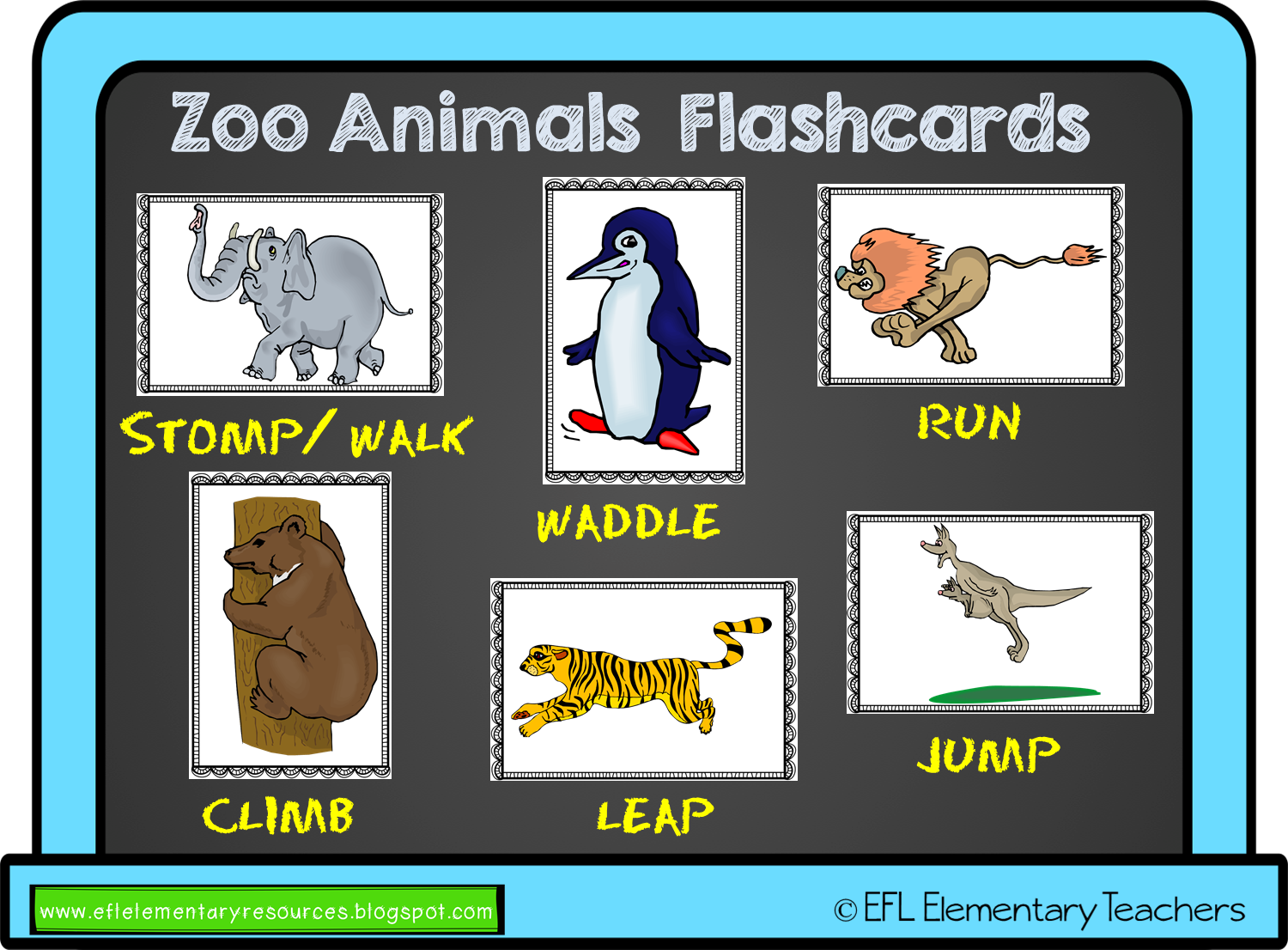 Efl Elementary Teachers Zoo Animal Move Resources For