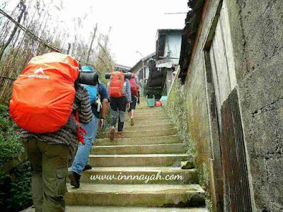 Jalur pendakian via patak banteng, pos 1 patak banteng, ondo sewu, gunung prau
