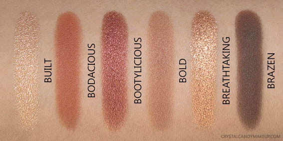 The Balm Nude Beach Eyeshadow Palette Swatches