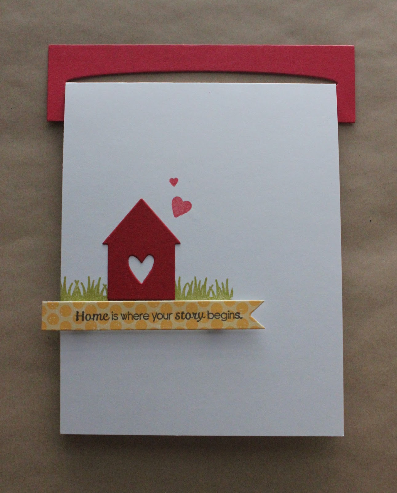 Craftmates housewarming card for New home diy
