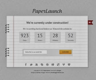 Paper Launch Under constuction blogger Template,under construction,simple templates,blogger templates