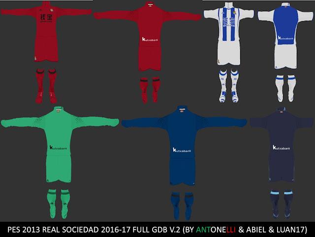 PES 2013 Real Sociedad 2016-17 Full GDB V.2 BY ANTONELLI & ABIEL & LUAN17