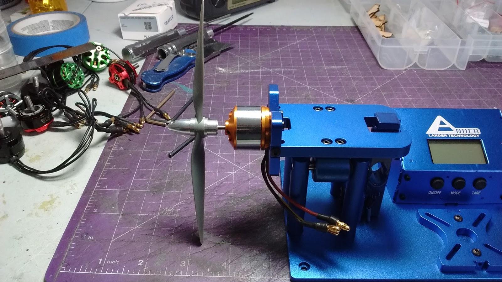 Scotts ParkJet blog: RC Lander thrust test stand initial