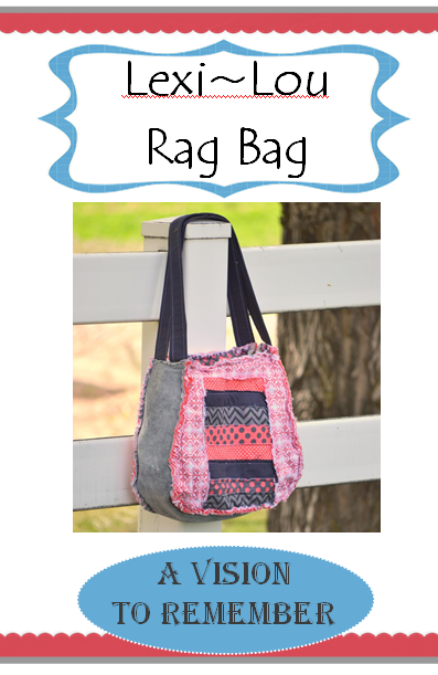 Lexi Lou Rag Bag Purse Pattern Print Version for Quilt Shops