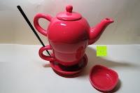 komplett: Porzellan Teekannenservice von Original First Tea (Rot)