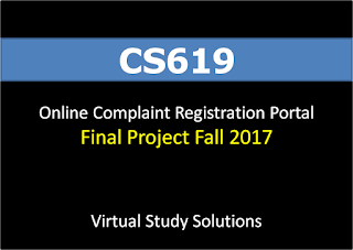 Online Complaint Registration Portal - CS619 Final Project Fall 2017