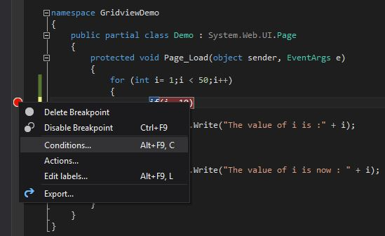 Conditional-Breakpoint-Menu