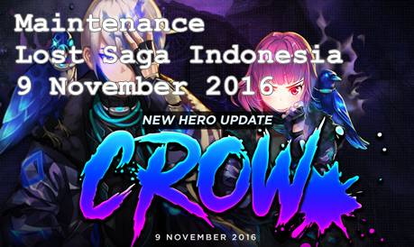 Maintenance Minggu Ini Lost Saga Indonesia Kedatangan Hero Baru Yang Bernama CROW