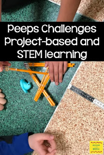 Peeps challenge, project based learning, STEM