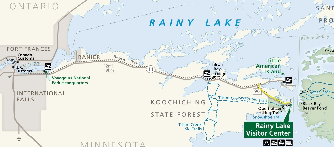Day Hiking Trails Trail links Voyageurs to International Falls