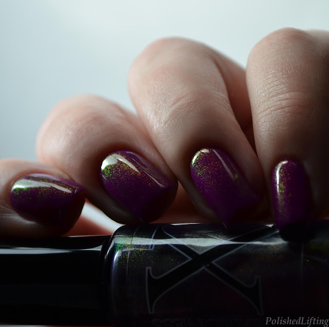 rainbow shimmer nail polish