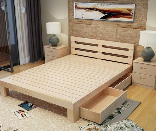 3 mẫu giường ngủ gỗ thông đẹp nhất 2017 cho phòng ngủ