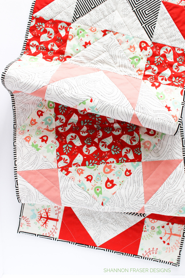Holiday Modern Aztec Quilted Table Runner | Shannon Fraser Designs