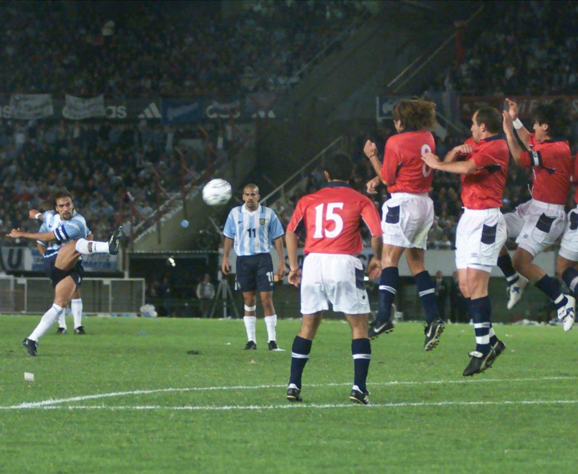 Argentina y Chile en Clasificatorias a Corea/Japón 2002, 29 de marzo de 2000