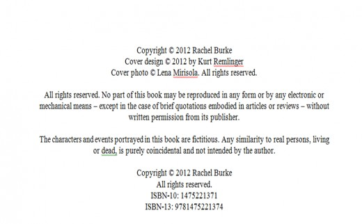 copyright template for book - how to publish an ebook on amazon s kindle store rachel