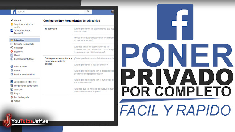 Como Poner en PRIVADO mi Facebook por Completo - Fácil y Rápido