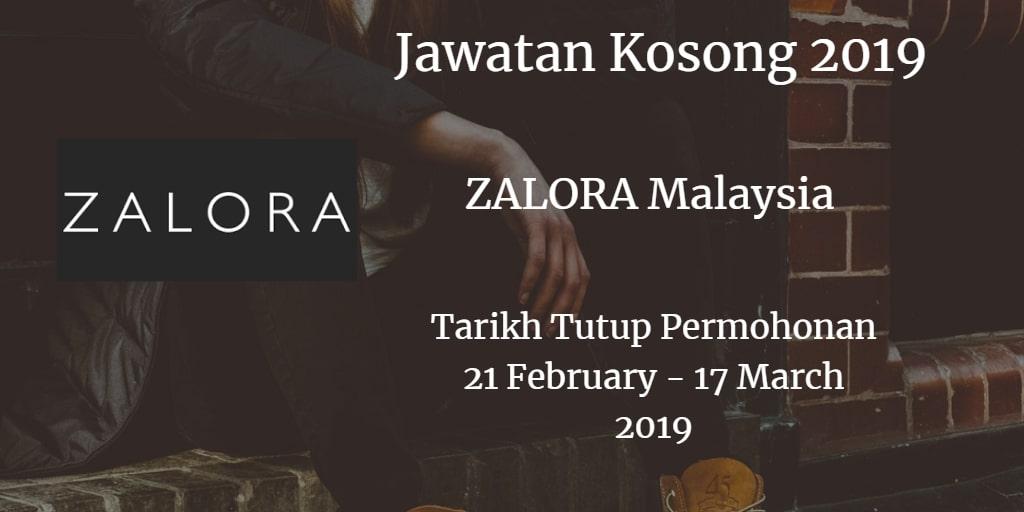 Jawatan Kosong ZALORA Malaysia 21 February - 17 March 2019