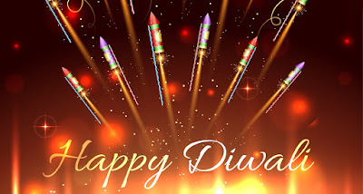 Diwali Crackers greeting card