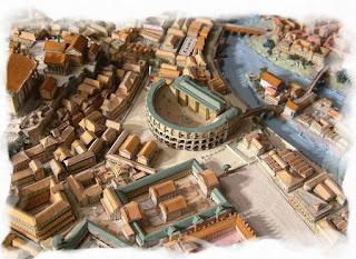 Calvados - Maquette de la ville de Rome à Caen