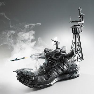 Sneaker o zapato tenis muy divertido.