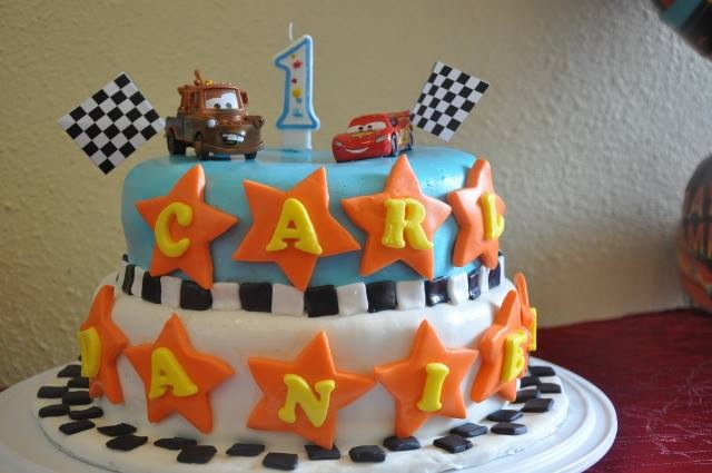 Welcome To: Carl's 1st Birthday Cake (Disney Cars