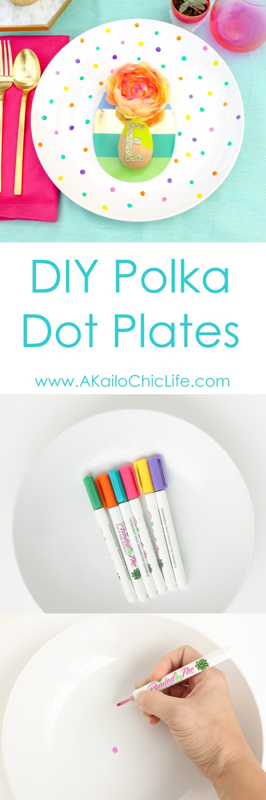 Easy DIY Craft - Polka Dot Plates - kid craft - teen craft