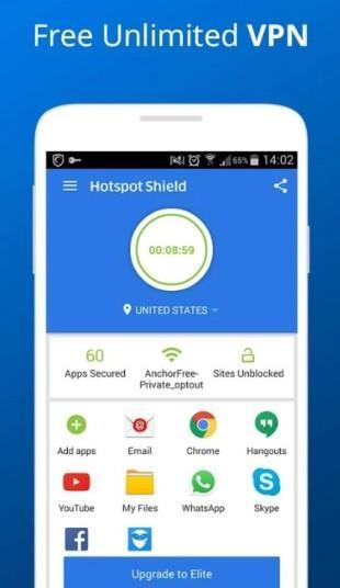 navigare anonimo nei paesi stranieri o con restrizioni con Hotspot Shield VPN Proxy Free