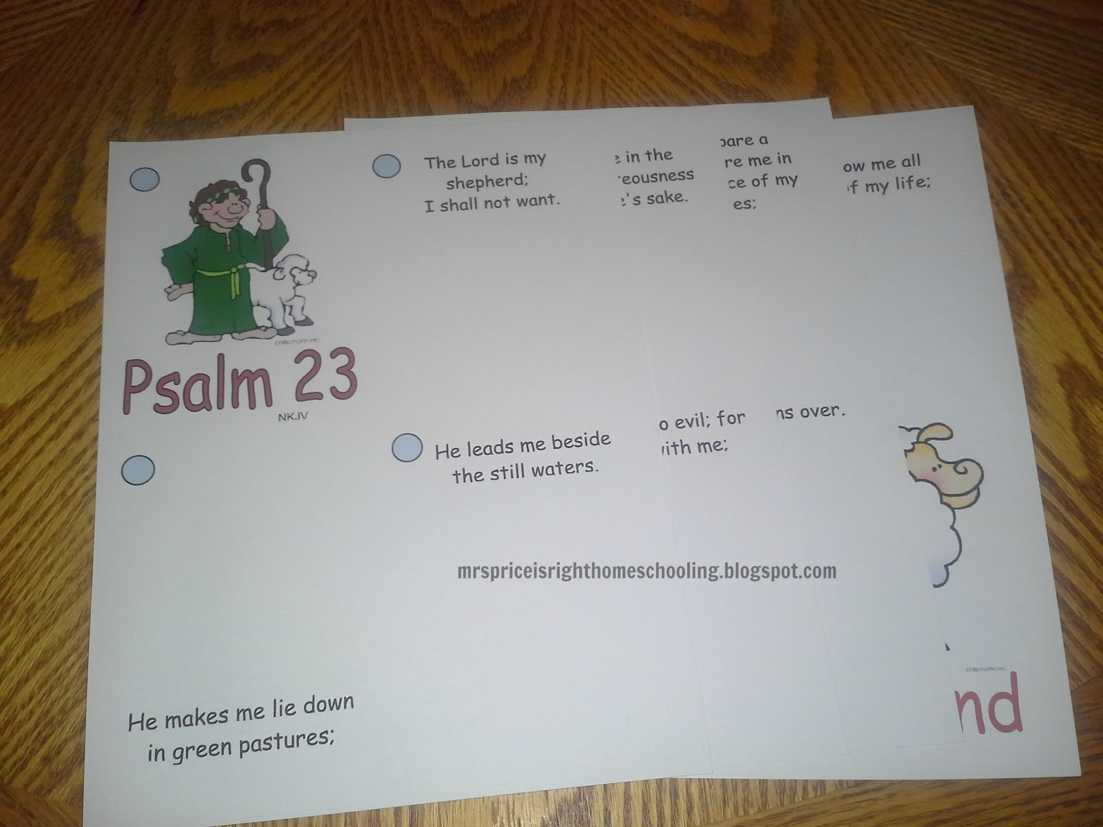 Mrs Price Is Right About Homeschooling Psalm 23 Booklet Free Printable
