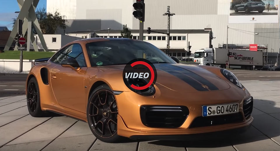 watch the porsche 911 turbo s exclusive series hit 213 mph. Black Bedroom Furniture Sets. Home Design Ideas