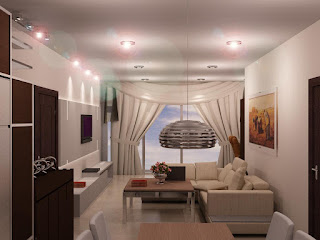 desain apartemen studio kecil