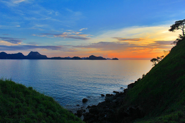 Sunset in Nacpan Beach