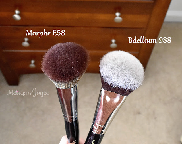 Bdellium Tools Maestro 988 BDHD Phase I Large Foundation Powder Brush Review vs Morphe E58