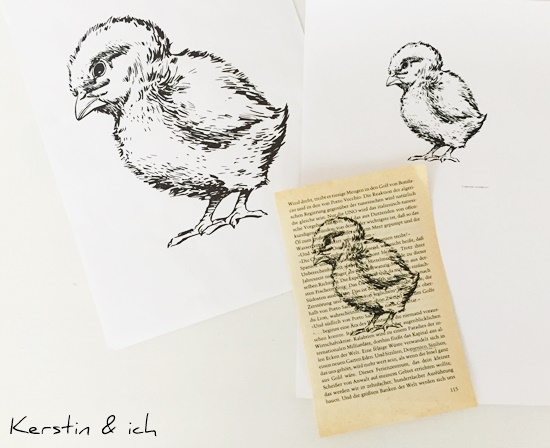 DIY Ostern Kopieren Bilder alte Buchseiten