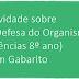 Atividade sobre A Defesa do Organismo (Ciências 8º ano) com Gabarito