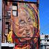 El artista ADNATE retrata al Dalai Lama tras encontrarselo en un viaje en la India.