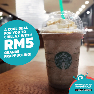 SweetSpot Malaysia RM5 Starbucks Grande Frappuccino Promo Berjaya Times Square