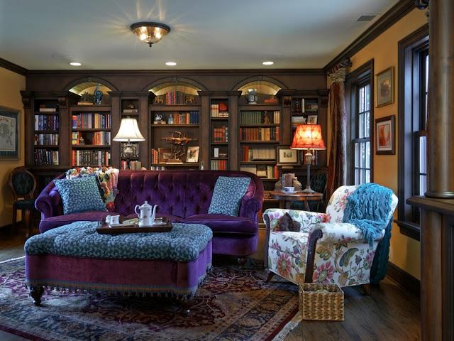 Домашняя библиотека из массива дерева в старом английском стиле!